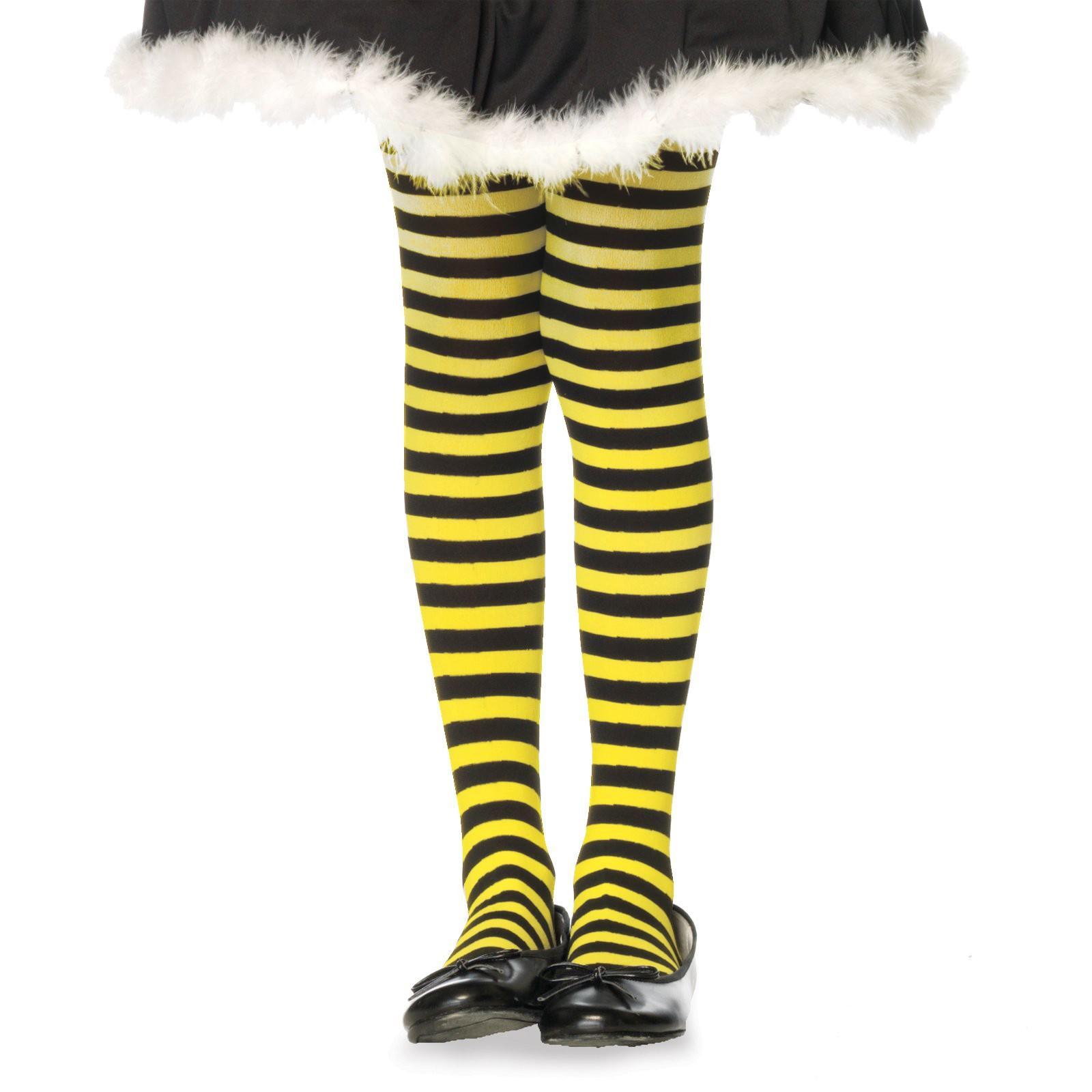 Xa Quan Nhu Mac Quan Vo Striped Black Yellow Child Tights Shopdinokid